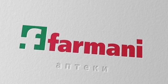 Фирменный стиль сети аптек Farman. Логотип