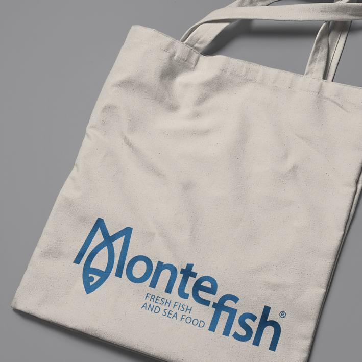 логотип Montefish, сумка